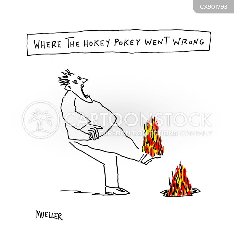 on fire cartoon