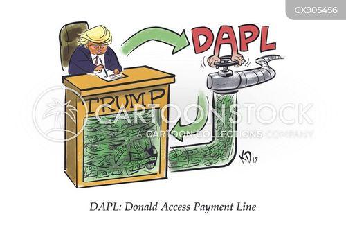 political corruption cartoon