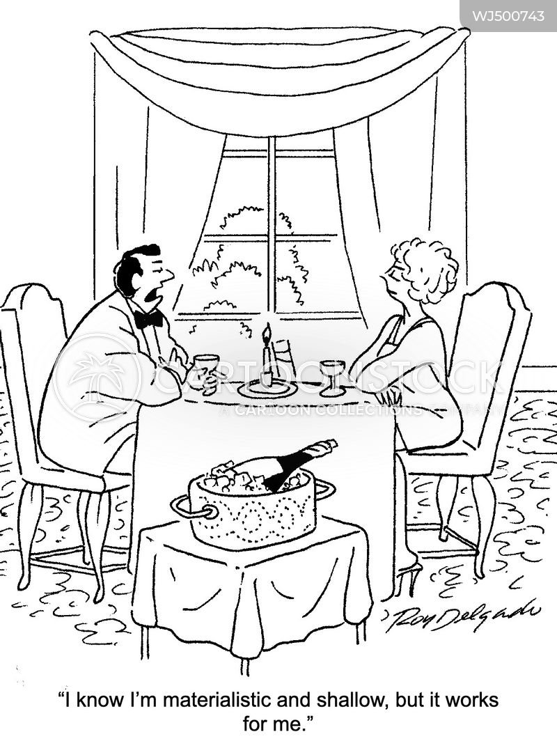 romantic meal cartoon
