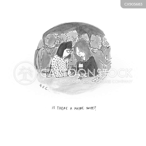 dating app cartoon