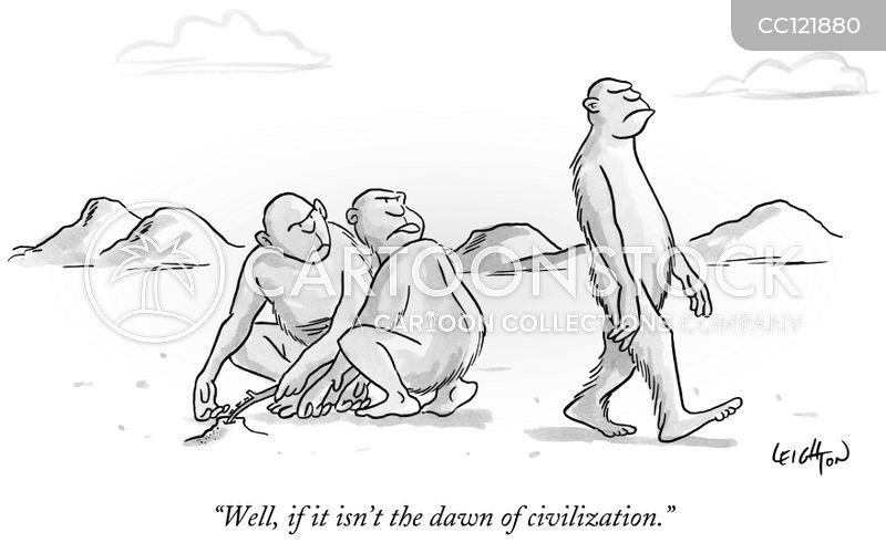 australopithecus cartoon