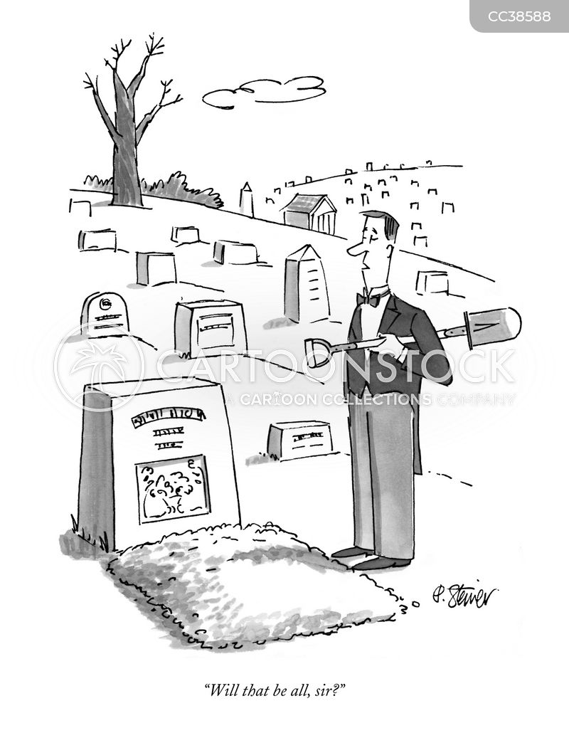 grave cartoon