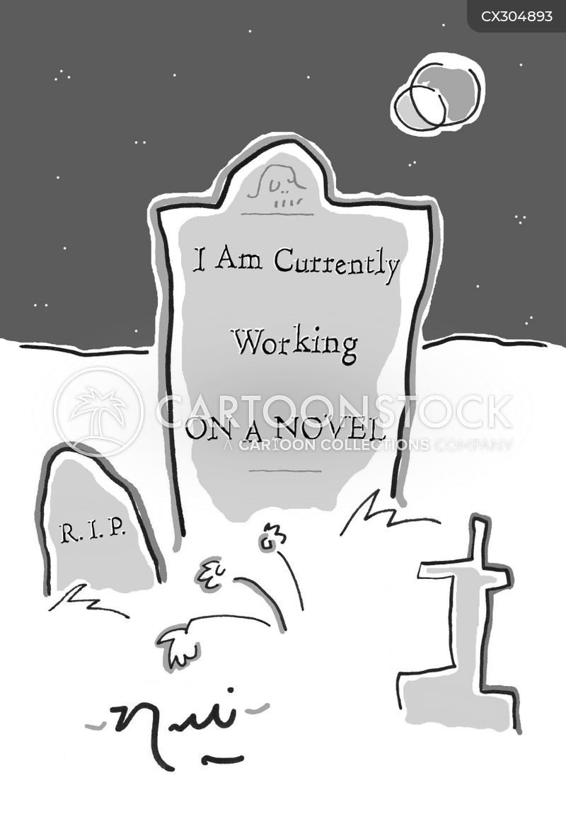 cemetery cartoon