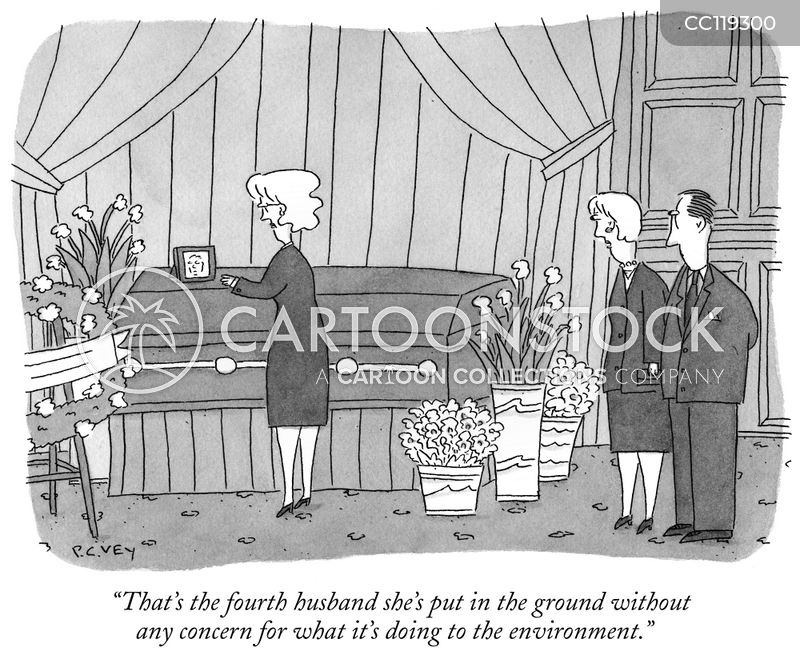 widowed cartoon