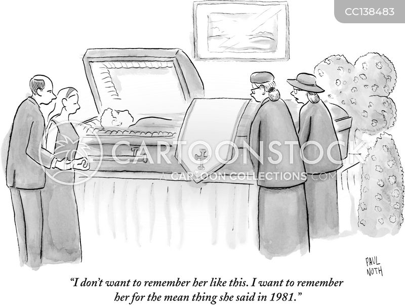 memorial service cartoon