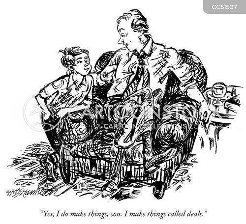 business deal cartoon