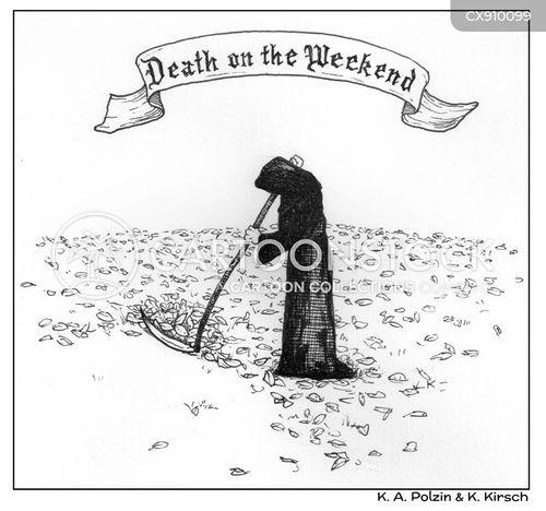 scythes cartoon