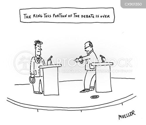 coin toss cartoon
