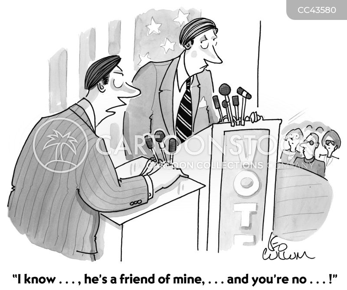 debating cartoon