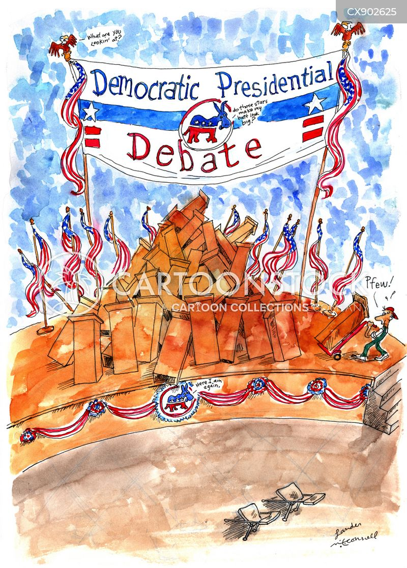 presidential race 2020 cartoon