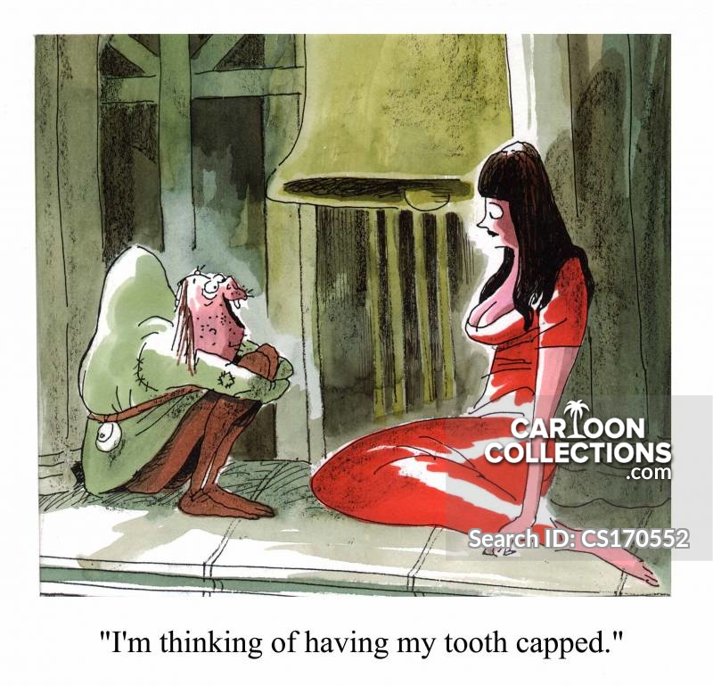 tooth capped cartoon