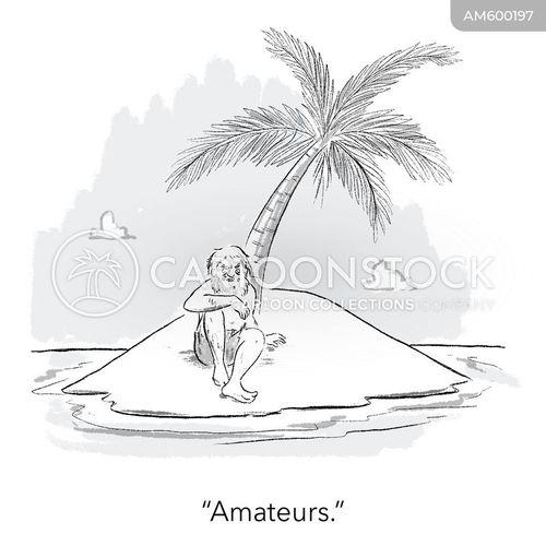 desert island joke cartoon