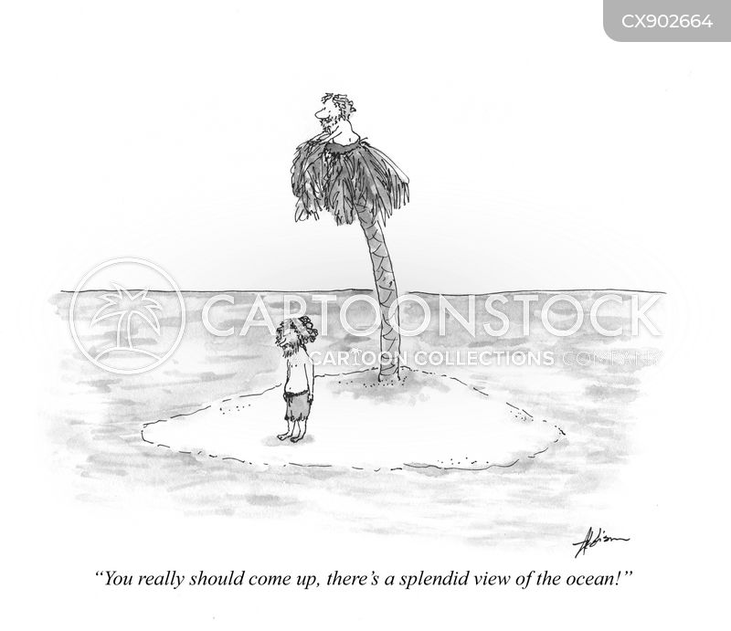 deserted island cartoon