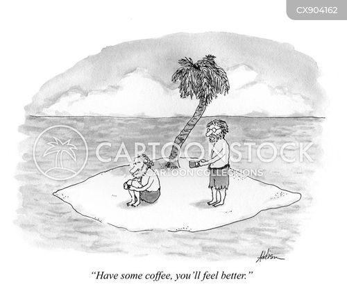 deserted island cartoon