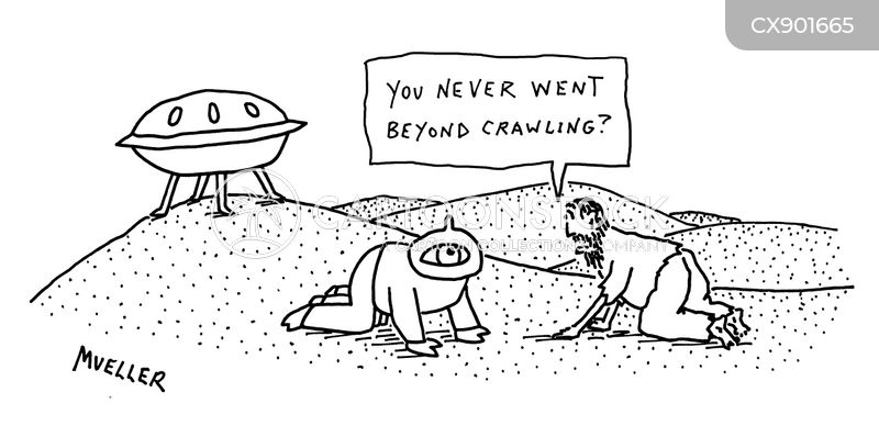 crawling through the desert cartoon