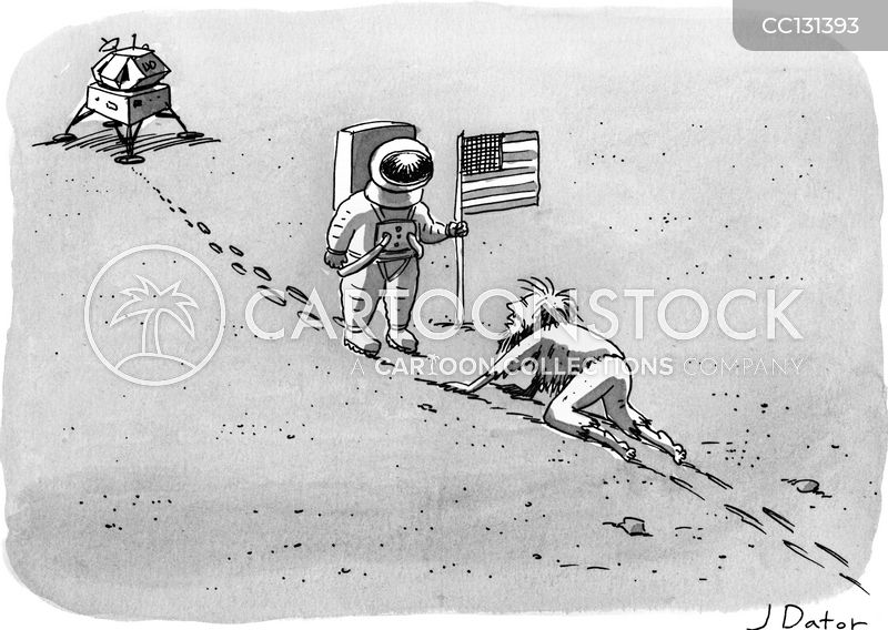 astronauts cartoon
