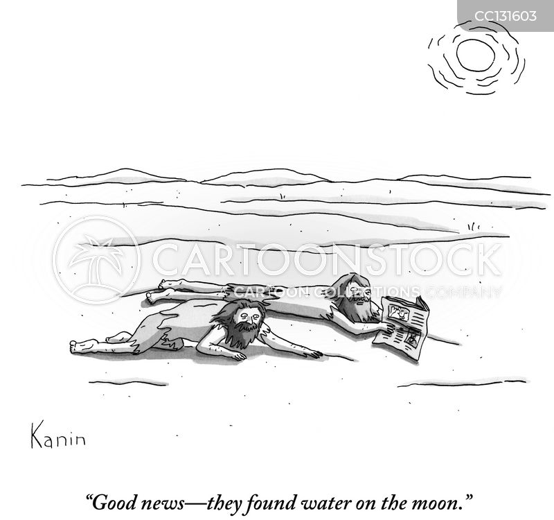 water on the moon cartoon