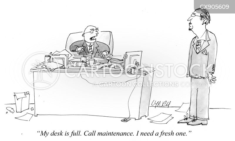 work computers cartoon