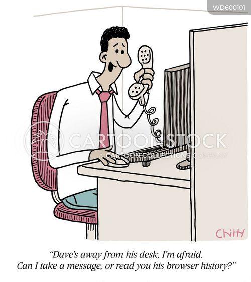 answer the phone cartoon