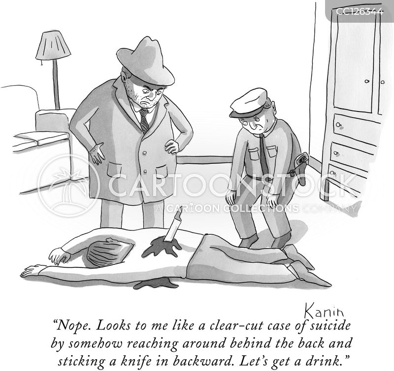 murderer cartoon