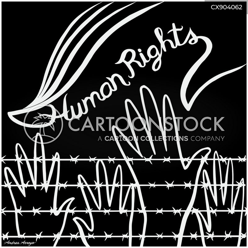 human rights abuses cartoon