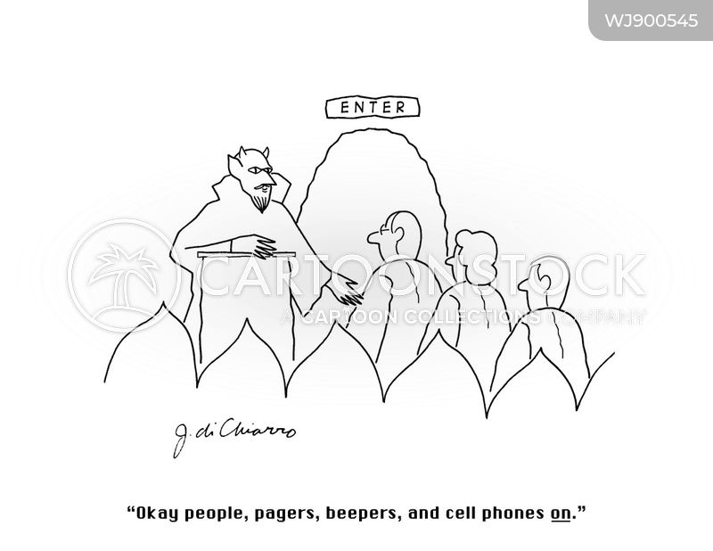 pagers cartoon