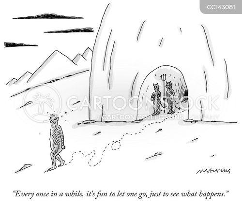 running away cartoon