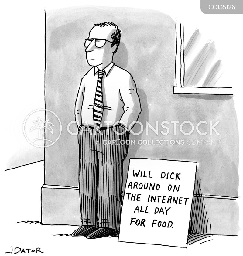 internet usage cartoon
