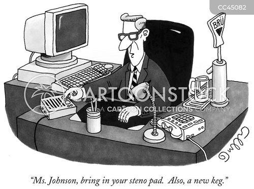 personal assistant cartoon