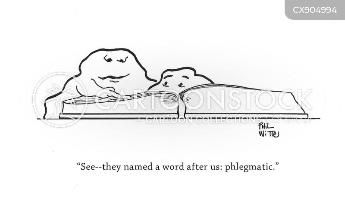 unemotional cartoon