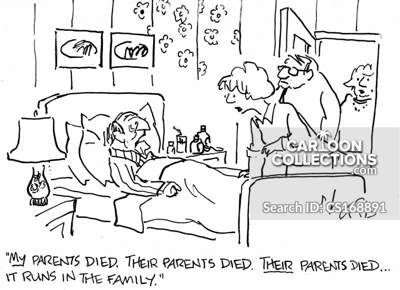 Dying Word cartoon