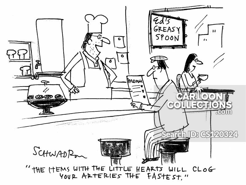 Clogged cartoon