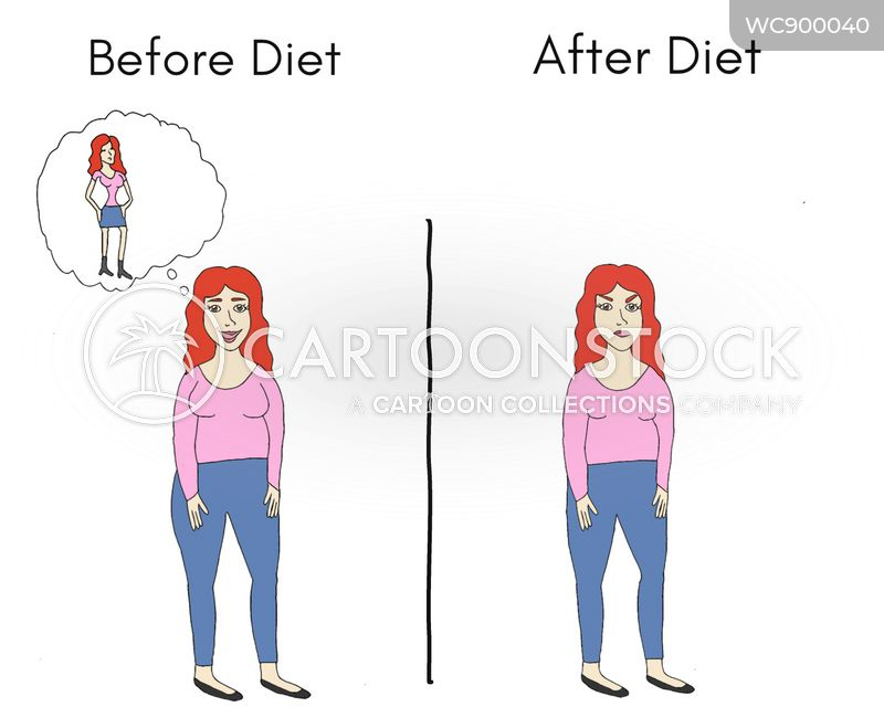 weight-loss plan cartoon