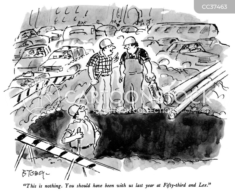 Road Construction cartoon