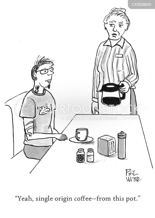 diner coffee cartoon