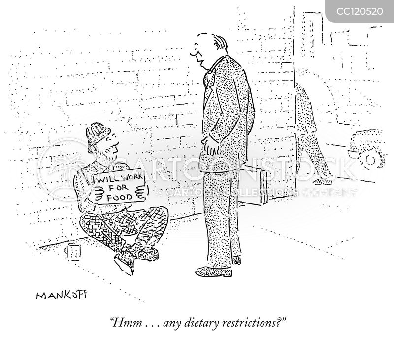 dietary restrictions cartoon