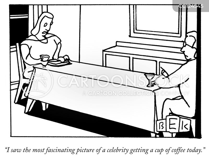 dinner conversation cartoon