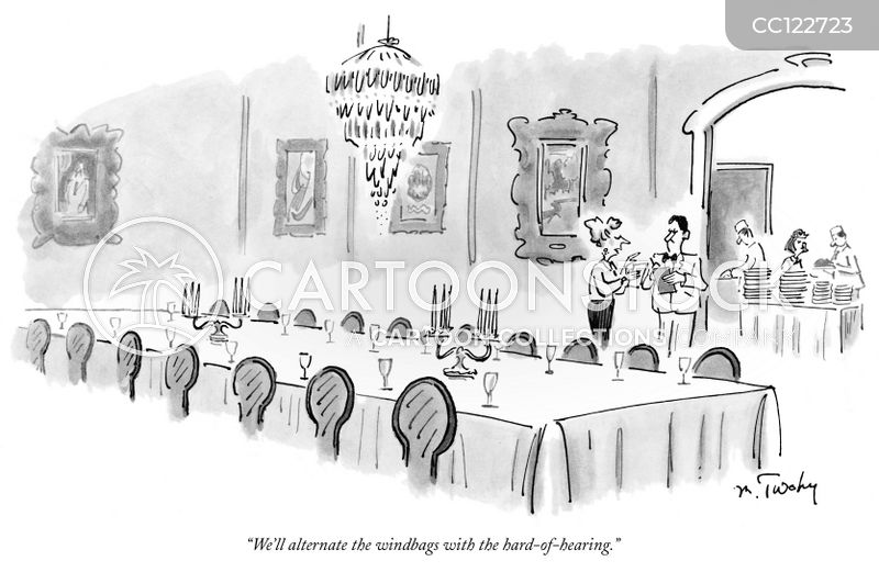 banquet cartoon