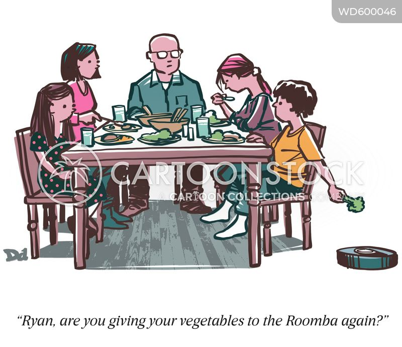 eat your vegetables cartoon