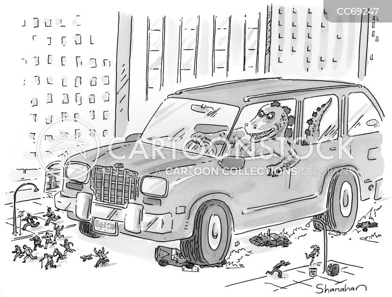 road rage cartoon