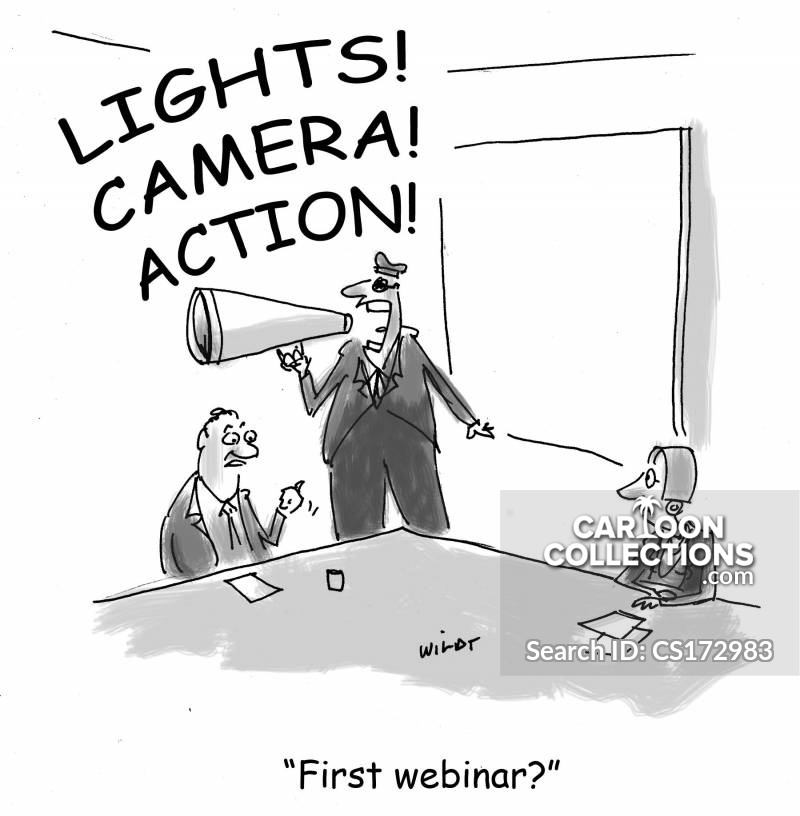 online conference cartoon