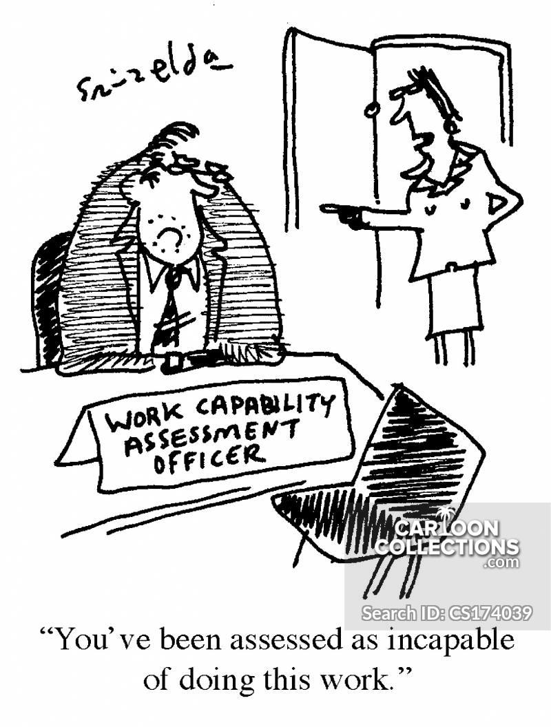 work assessment cartoon