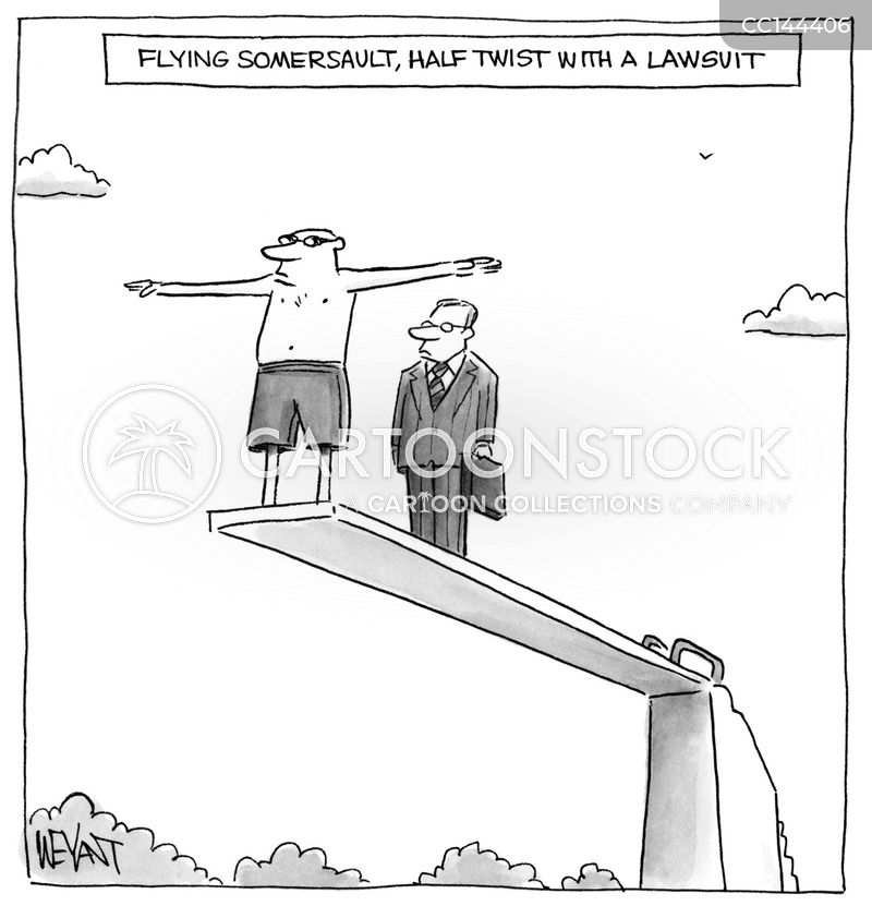 litigious cartoon