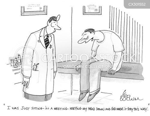 neck injury cartoon
