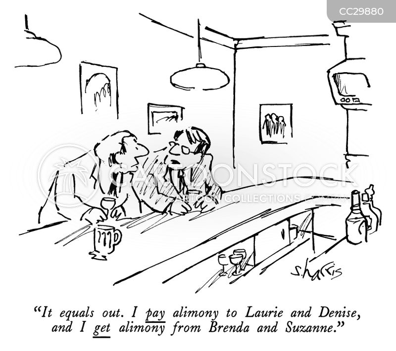 Alimony cartoon