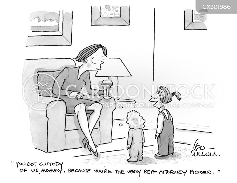custody battle cartoon