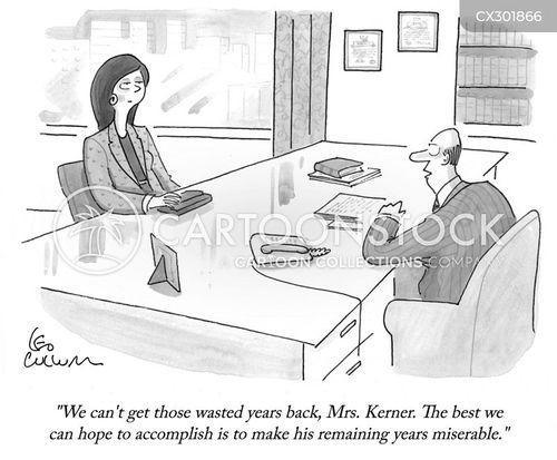 messy divorce cartoon