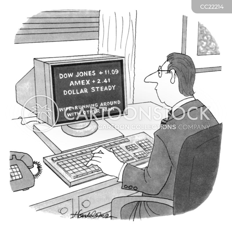 dow jones industrial average cartoon