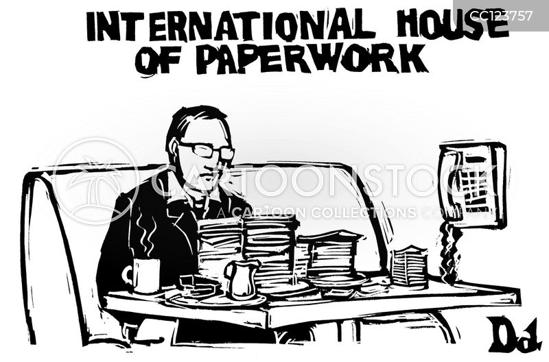 working too hard cartoon