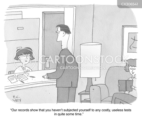 medical tests cartoon